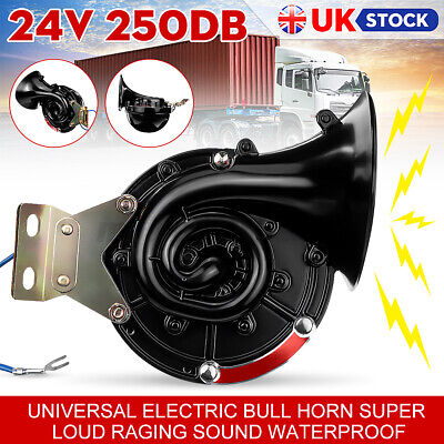 24V Loud 300DB Universal Electric Snail Air Horn Raging Sound Waterproof • 13.99£