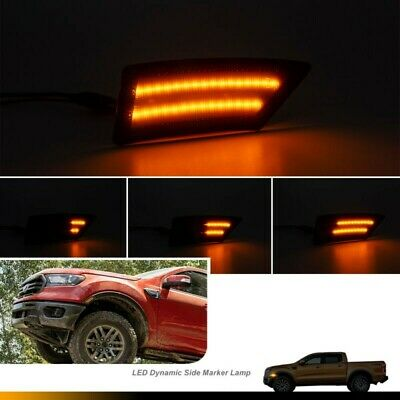 Replacement Side Marker Light Smoked Lens Sequential Waterproof Accessory • 32.97£