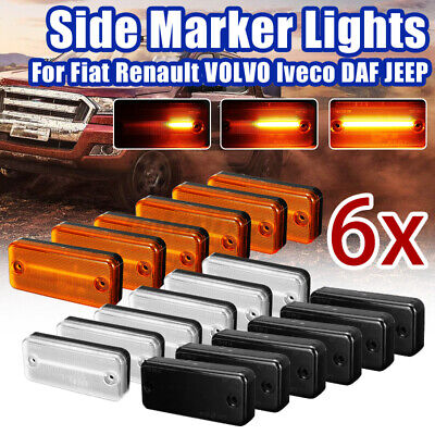2/6X LED Side Marker Indicator Light Repeater For Ducato Boxer Relay Daf Iveco • 56.99£