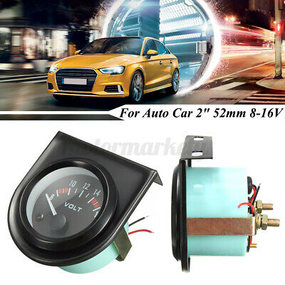 2'' 52MM 12V LED Car Gauges Voltage Oil Pressure Water Temp Celsius AMPS Meter • 7.99£