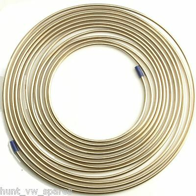 Cupro Nickel Fuel / Brake Pipe Hose Line 25ft / Foot 3/16 4.76mm 1 Roll • 14.99£