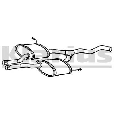 1x KLARIUS OE Quality Replacement Middle Silencer Exhaust For FORD Petrol • 169.89£