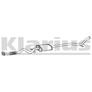 Fits KIA PICANTO 1.0,1.1 (04-11) EXHAUST CENTRE SILENCER WITH FLEXI 100% QUALITY • 35.35£