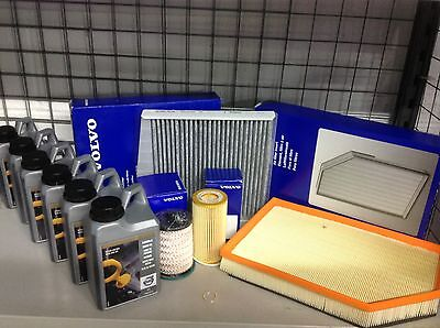 Genuine Volvo D5 Oil/Air/Pollen/Fuel Filters And 6 Ltrs OilV70/S60/XC90/XC70/V60 • 147.50£