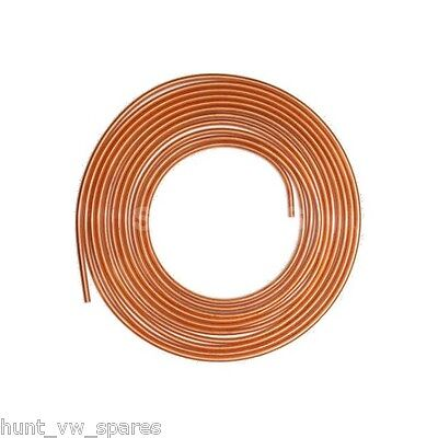 Copper Brake Fuel Pipe Hose Line 25ft Feet 1/4 1 Roll • 17.99£