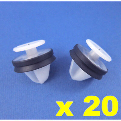 Citroen Peugeot Door Panel Card Pillar Clips White Plastic With Rubber Seal X 20 • 3.65£