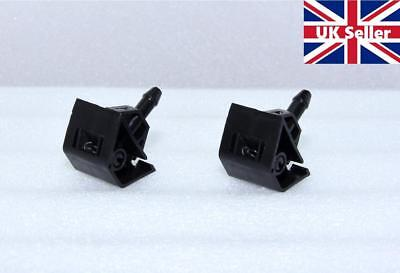 2X  Front Windscreen Washer Jet Nozzles For Nissan Qashqai 08- 2014 Windshield • 10.99£