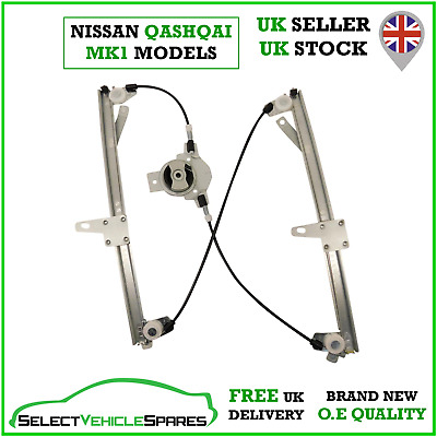 New Drivers Side Front Right Window Regulator For Nissan Qashqai Mk1 2007-2013 • 49.85£