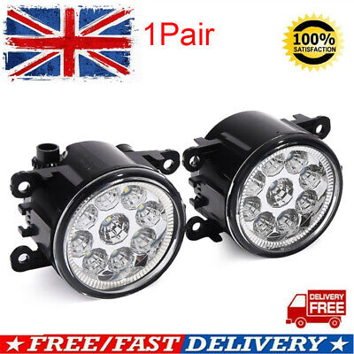 2X LED Front Fog Lights Lamps DRL For Ford Fiesta MK6 MK7 Ford C-Max Focus LH+RH • 19.85£