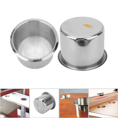 2Pcs Stainless Steel Recessed Cup Drink Holder For Marine Boat Camper Truck • 6.69£