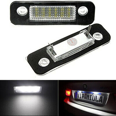 1 Pair LED License Number Plate Lights Lamp For FORD MONDEO II Saloon FIESTA V • 8.39£