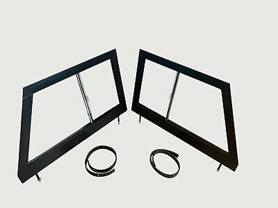 Front LH & RH Glazed Door Tops For Land Rover Series 2 2A 320853GL 320854GL • 189£
