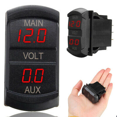 LED Digital Dual Voltmeter Voltage Gauge Battery Monitor Panel 12V 24V Car Boat • 6.99£