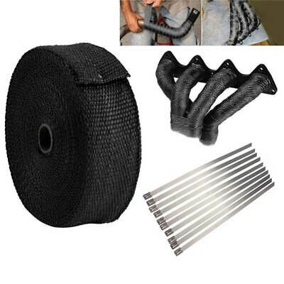 10 Meters Exhaust Manifold Heat Wrap Tape Bandage Roll Dowpipe With 10 Ties • 7.99£