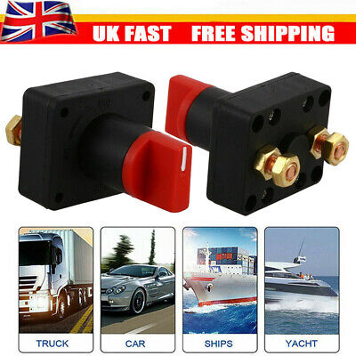12V Universal Car Van Boat Battery Isolator Switch Cut Off Disconnect Terminal • 3.99£