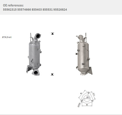 OE Quality Replacement Diesel Particulate Filter DPF INSIGNIA SAAB 9-5 CHEVROLET • 449£
