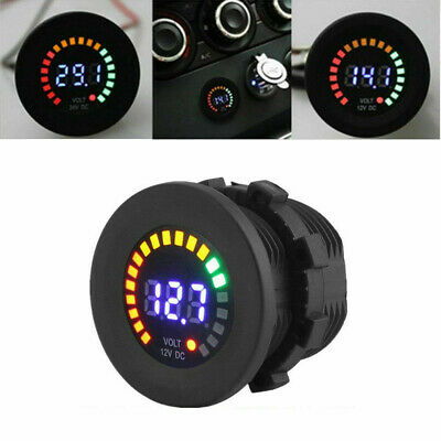 New 12V LED Car Van Boat Marine Voltmeter Voltage Meter Waterproof Battery Gauge • 12.11£