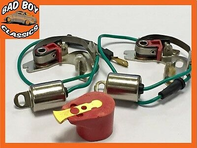 CLASSIC MINI LUCAS Type 45D Points Condenser X2 + RED ROTOR  • 6.95£