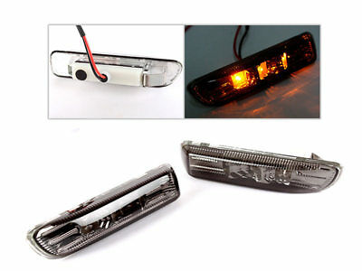 For BMW E46 99-03 SMOKE LED SIDE MARKER REPEATER INDICATOR LIGHT 3 Series • 19.99£