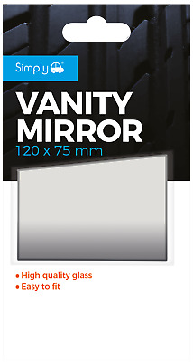 Car Vanity Mirror, Self Adhesive For Sun Visor Interior Will Fit Any Vehicle • 2.95£