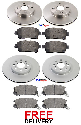 FOR TOYOTA MR2 1.8 VVTi (1999-2006) FRONT & REAR BRAKE DISCS & PADS SET *NEW* • 97.99£