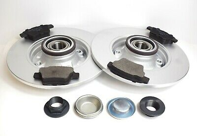Peugeot 207 New Rear Brake Discs And Pads + Fitted Wheel Bearings & Abs Rings • 80.19£