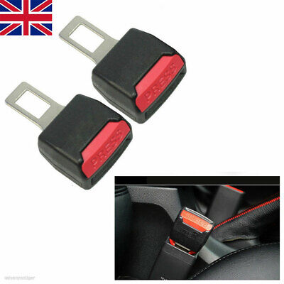 2x Car Safety Seat Belt Buckle Extension Extender Clip Alarm Stopper Universal • 4.19£