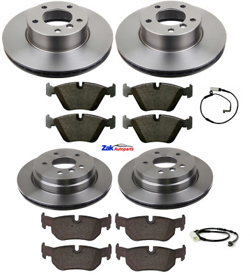FOR BMW 120D E81 M Sport 07-11 Front And Rear Discs & Pads + Brake Sensors New • 124.99£