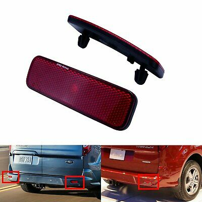 For Ford Transit Tourneo Connect Custom Van Red Lens Rear Bumper Reflector Light • 12.88£