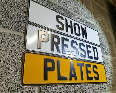 2 X 3D Pressed Metal SHOW / NOVELTY Number Plates +adhesive Pads -NOT ROAD LEGAL • 29.99£