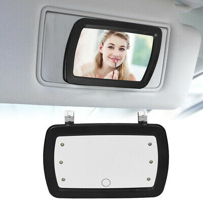 Car Sun Visor Mirror Makeup Sun-shading Cosmetic Vanity Mirror With LED Lights • 7.85£