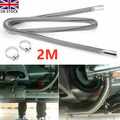2m Heater Exhaust Pipe Stainless Steel Air Parking Diesel Gas Tank Outlet UK • 12.09£