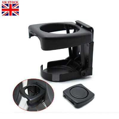 Car Drink Cup Bottle Holder Stand Mount Auto Folding Beverage Universal Black • 3.99£