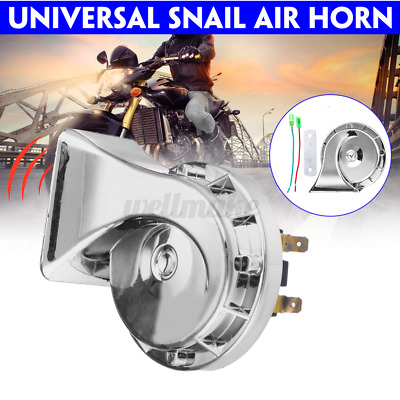 Air Snail Horn 12V 300DB For Car Truck Lorry SUV Truck Boat Loud Camper Silver • 9.11£