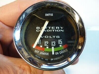 Smiths Battery Condition Gauge, Good Condition, Needle Works When Connected • 10.30£