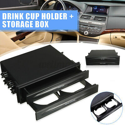 Universal Car Auto Double Din Stable Drink Cup Holder Radio Pocket Storage Box • 6.99£