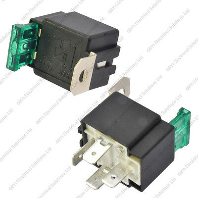 12V 4 Pin 30A Fused Relay With Bracket 12 Volt Normally Open On/Off Automotive • 5.89£