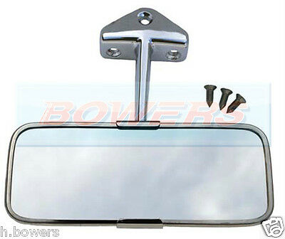 Classic Austin Mini Stainless Steel Chrome Interior Rear View Mirror • 24.89£