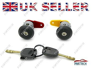 FORD FIESTA COMPLETE DOOR LOCK SET + 2 KEYS FRONT RIGHT And LEFT OSF NSF • 6.50£