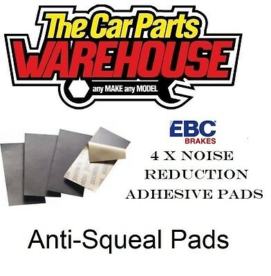 LARGE EBC ANTI SQUEAL SELF ADHESIVE BRAKE PAD SHIMS NOISE REDUCTION 152mm X 51mm • 6.95£