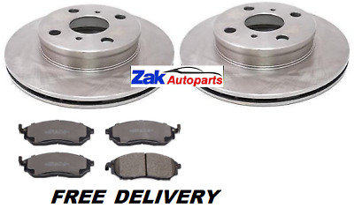 For Nissan Navara 2.5 Dci D40 (2004-2014) 2 Front Brake Discs And Pads Set 320mm • 68.33£