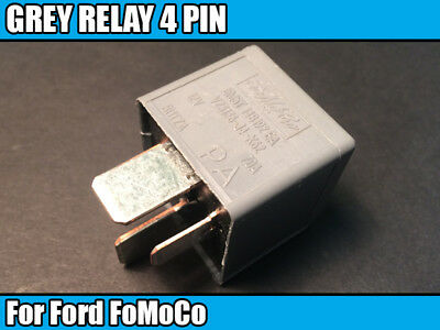 1 GREY RELAY 4 PIN For Ford FoMoCo Electrical Component 5M5T14B192EA V23136J4X62 • 6.48£