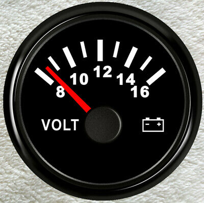 Volt Meter 2''/52mm Universal Car 12V Illuminated Battery Condition Volt Gauge • 13.99£