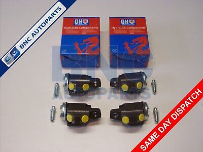 FRONT WHEEL CYLINDER SET OF 4 For MORRIS MINOR - 1953 To 1971 - QH • 26.90£