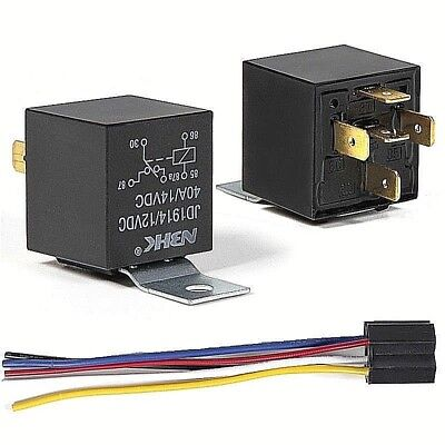 12V Automotive Changeover Relay 40A 5-Pin SPDT Switching Relay With Socket • 4.99£