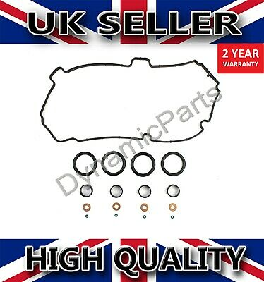 For Ford Fiesta Fusion 1.4 Tdci Fuel Injector Seal Kit With Rocker Cover Gasket • 19.80£