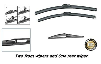 Nissan Qashqai 2014-Onwards Brand New Front And Rear Windscreen Wiper Blades • 12.50£