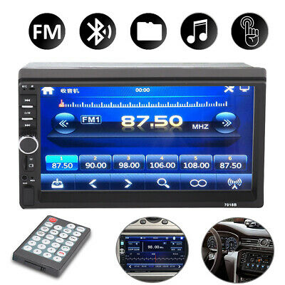 7  Double Car Radio Stereo In-Dash+Camera MP5 Player 2 Din Bluetooth FM AUX • 33.55£