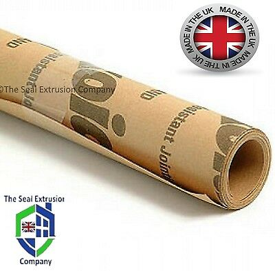 GASKET PAPER MATERIAL 2.5mtr LONG X 500mm WIDE X 0.80mm THICK - OIL & WATER SEAL • 16.99£