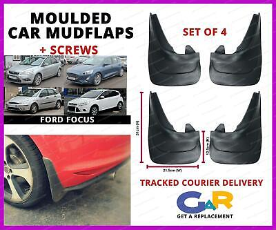 Rubbert Car Mud Flaps Splash Guards Set Of 4 Front And Rear For Ford Focus • 14.99£